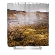 Hot Earth Shower Curtain