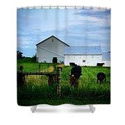 Hot Eve Night On The Farm Shower Curtain