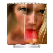 Hot Ice Girl Shower Curtain