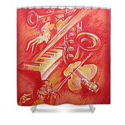 Hot Jazz Shower Curtain