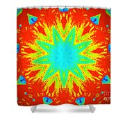 Hot Kaleidoscope Flower Shower Curtain