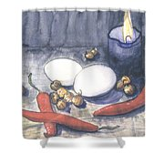 Hot Kitchen Shower Curtain