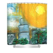 Hot Miami Sky Shower Curtain
