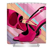 Hot Momma's Hot Pink Pumps Shower Curtain