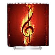Hot Music Shower Curtain