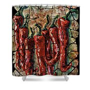 Hot Pepper Fresco Shower Curtain