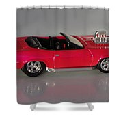 Hot Pink Barracuda Shower Curtain