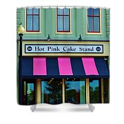 Hot Pink Cake Stand Shower Curtain