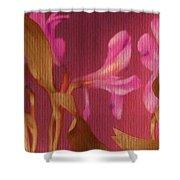 Hot Pink Lilies Shower Curtain