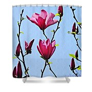 Hot Pink Magnolias Shower Curtain