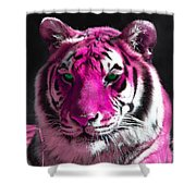 Hot Pink Tiger Shower Curtain