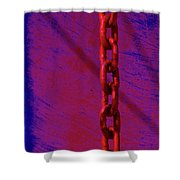 Hot Red Chain Shower Curtain