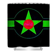 Hot Red On Cool Green Shower Curtain