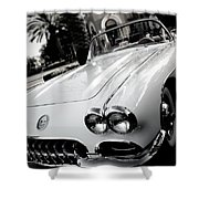Hot Rod Black And White Shower Curtain