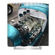 Hot Rod Engine Detail Shower Curtain