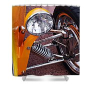 Hot Rod Headlight Shower Curtain