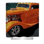 Hot Rod Orange Shower Curtain
