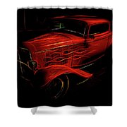 Hot Rod Red Shower Curtain