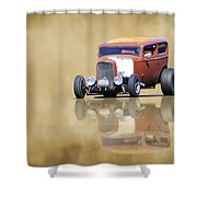 Hot Rod Reflection Shower Curtain