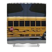 Hot Rod School Bus Shower Curtain