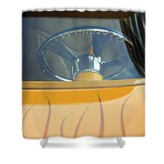 Hot Rod Steering Wheel 2 Shower Curtain