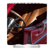 Hot Rod Steering Wheel Shower Curtain