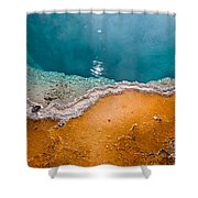 Hot Spring Detail Shower Curtain