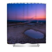Hot Spring Sunset Shower Curtain