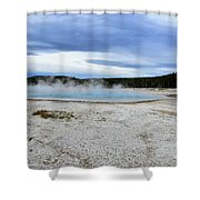 Hot Spring1 Shower Curtain