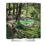 Hot Springs At The Peguche Falls Shower Curtain