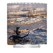 Mammoth Hot Springs One Shower Curtain