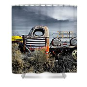 hot springs day-2351-2-R1 Shower Curtain