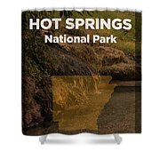 Hot Springs National Park In Arkansas Travel Poster Series Of National Parks Number 31 Shower Curtain