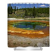Hot Springs Yellowstone National Park Shower Curtain
