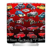 Car Show And Shine Poster Shower Curtain