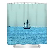 Hot Summer Day In New England Shower Curtain