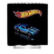 Hot Wheels 67 Pontiac Firebird 400-3 Shower Curtain by James Sage