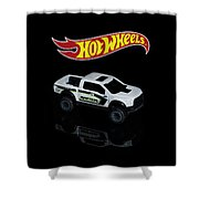 Hot Wheels Ford F-150 Raptor Shower Curtain by James Sage