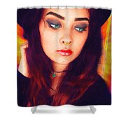 Hot Youth Beauty Rebellion Alexis Burleson Signed Shower Curtain
