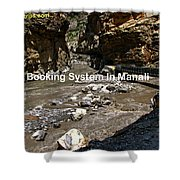 Hotel Booking System In Manali Shower Curtain
