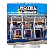 Hotel El Rancho Shower Curtain