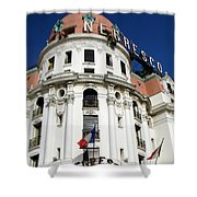 Hotel Negresco In Nice Shower Curtain