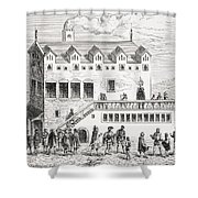 Hotel Of The Chamber Of Accounts In The Shower Curtain