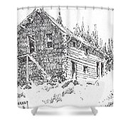 Hotel Red Lion Ghost Town Montana Shower Curtain
