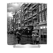 Hotel Row -- Amsterdam In November Shower Curtain