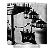 Hotel Sign - Reality And Shadow Shower Curtain