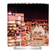 Hotel Vancouver And Sheraton Wall Center Shower Curtain
