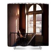 Hotel Window Shower Curtain