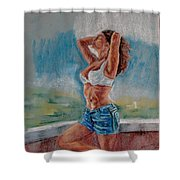 Hottness Shower Curtain