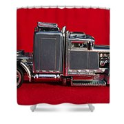 Hotwheels Semi Truck Shower Curtain